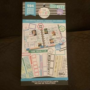 The Happy Planner Sticker Book-Colorful Boxes